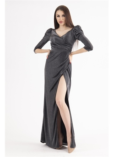 Belamore  Abiye & Mezuniyet Elbisesi Füme